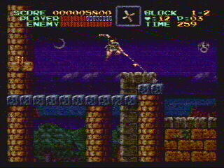 Me doing exceptionally poorly at Castlevania IV